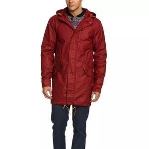 Levi's Red Hooded Parka Jacket Raincoat